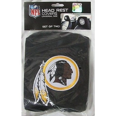 NFL Washington Redskins Headrest Cover Embroidered Logo Set of 2 by Team ProMark