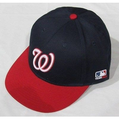 MLB Washington Nationals Adult Cap Flat Brim Raised Replica Cotton Twill Hat