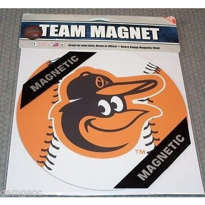MLB Baltimore Orioles Alt 8 Inch Auto Magnet 2-tone Ball by Fremont Die