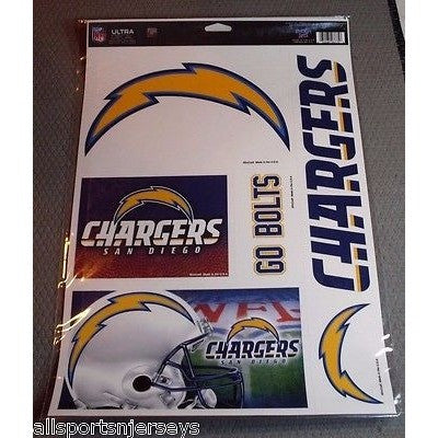 NFL San Diego Chargers Ultra Decals Set of 5 By WINCRAFT