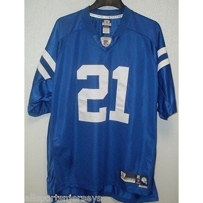 BLEMISHED NFL INDIANAPOLIS COLTS SANDERS #21 Reebok Royal Blue REPLICA JERSEY XL