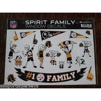 NFL Pittsburgh Steelers Spirit Family Decals Set of 17 by Rico Industries