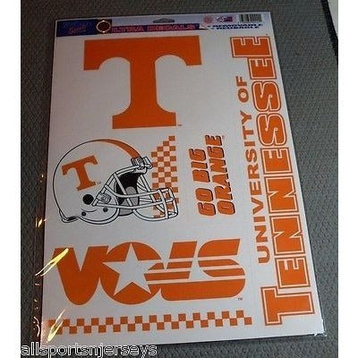 NCAA Tennessee Volunteers Ultra Decals Set of 5 By WINCRAFT