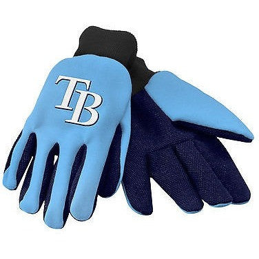 MLB Tampa Bay Rays Utility Gloves by Forever Collectibles