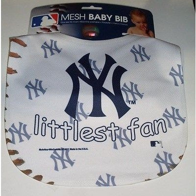 MLB New York Yankees Littlest Fan Infant Baby Bib Mesh Wincraft