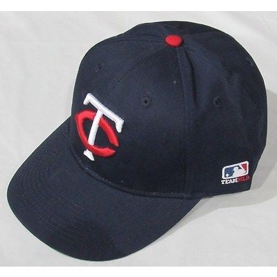 MLB Minnesota Twins Adult Cap Flat Brim Raised Replica Cotton Twill Hat Home