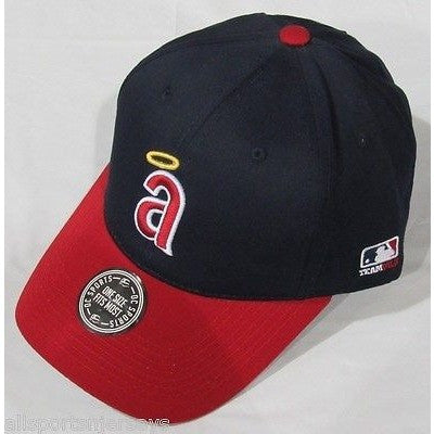 MLB  Anaheim Angels Adult Cap Cooperstown Raised Replica Cotton Twill Hat