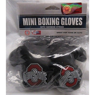NCAA Ohio State Buckeyes 4 Inch Rear View Mirror Mini Boxing Gloves