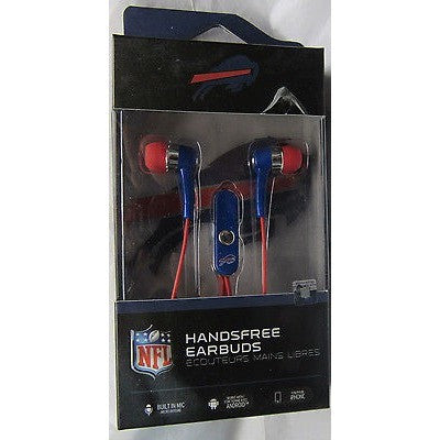 NFL Buffalo Bills Team Logo Earphones with Microphone by MIZCO