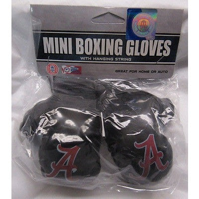 NCAA Alabama Crimson Tide 4 Inch Rear View Mirror Mini Boxing Gloves
