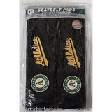 MLB Oakland Athletics Velour Seat Belt Pads 2 Pack by Fremont Die