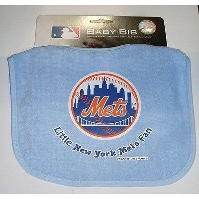MLB Little New York Mets Fan Infant Baby Bib Carolina Blue Wincraft
