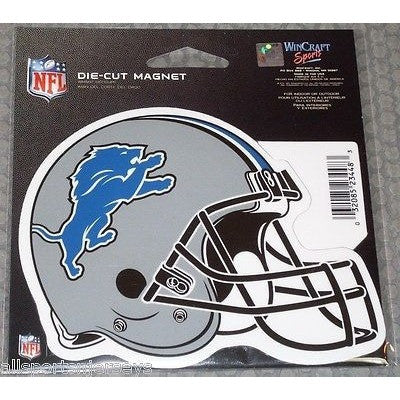 NFL Detroit Lions Helmet 4 inch Auto Magnet by WinCraft