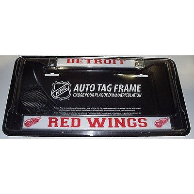 NHL Detroit Red Wings Chrome License Plate Frame Thin Letters