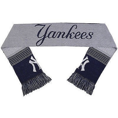 "MLB 2015 Reversible Split Logo Scarf New York Yankees 64"" x 7"" by FOCO"