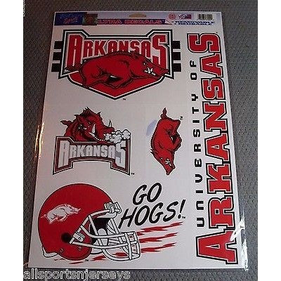 NCAA Arkansas Razorbacks Ultra Decals Set of 5 By WINCRAFT GO HOGS!