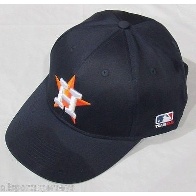 MLB Houston Astros Adult Cap Flat Brim Raised Replica Cotton Twill Hat All Navy