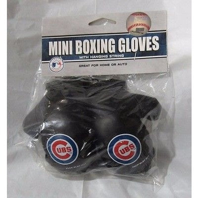 MLB Chicago Cubs 4 Inch Rear View Mirror Mini Boxing Gloves
