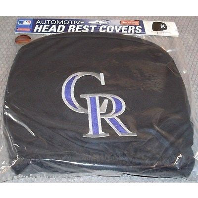 MLB Colorado Rockies Headrest Cover Embroidered Logo Set of 2 by Team ProMark