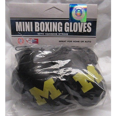 NCAA Michigan Wolverines 4 Inch Rear View Mirror Mini Boxing Gloves