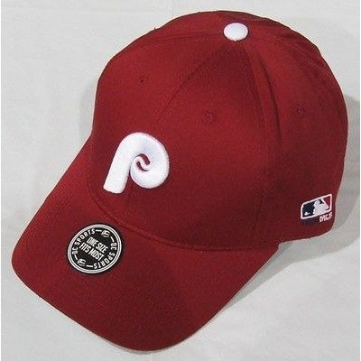MLB Philadelphia Phillies Adult Cap Cooperstown Raised Replica Cotton Twill Hat