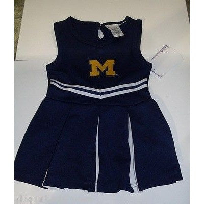 NCAA Michigan Wolverines Infant Cheer Dress 1-pc 12M Two Feet Ahead