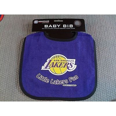 NBA Little Los Angeles Lakers Fan Infant Baby Bib Purple Black Trim Wincraft