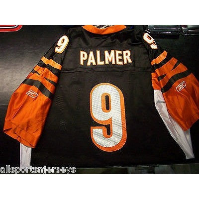 BLEMISHED CINCINNATI BENGALS CARSON PALMER #9 HOME COLOR REEBOK JERSEY ADULT XXL