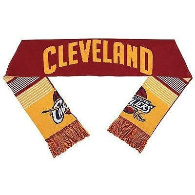 "NBA 2015 Reversible Split Logo Scarf Cleveland Cavaliers 64"" by 7"" FOCO"