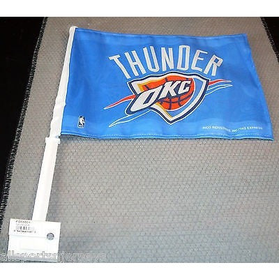 NBA Oklahoma City Thunder Logo on Window Car Flag by Rico Industries