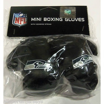 NFL Seattle Seahawks 4 Inch Rear View Mirror Mini Boxing Gloves