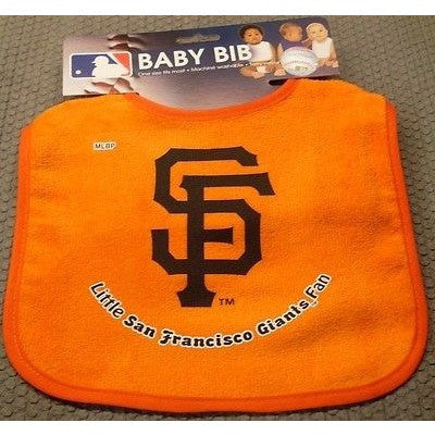 MLB Little San Francisco Giants Fan Infant Baby Bib All Blue Wincraft