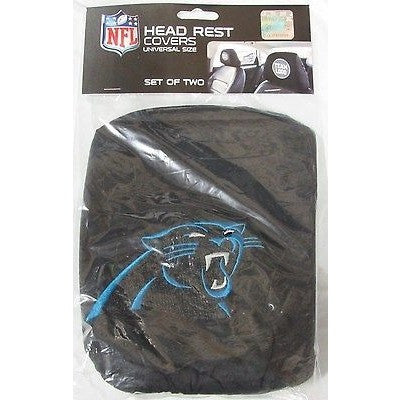 NFL Carolina Panthers Headrest Cover Embroidered Logo Set of 2 by Team ProMark