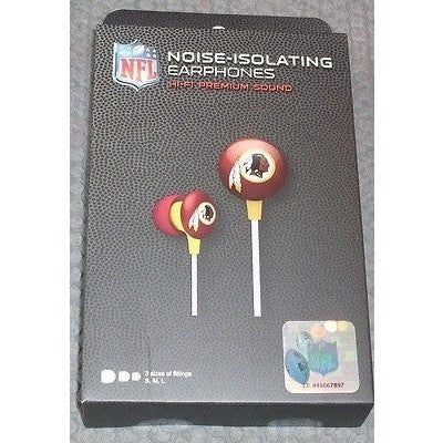 NFL iHip Team Logo Earphones Washington Redskins