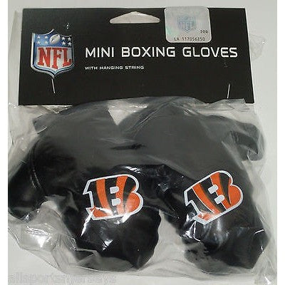 NFL Cincinnati Bengals 4 Inch Rear View Mirror Mini Boxing Gloves