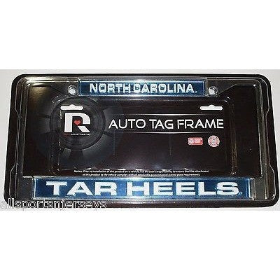 NCAA North Carolina Tar Heels Laser Cut Chrome License Plate Frame