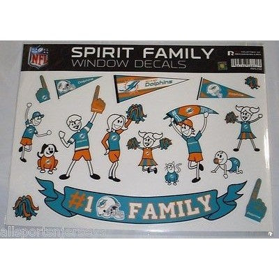 NFL Miami Dolphins Spirit Family Decals Set of 17 by Rico Industries