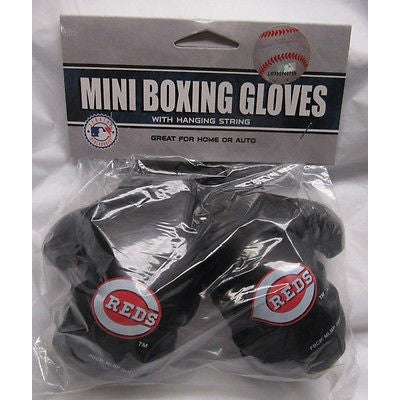 MLB Cincinnati Red 4 Inch Rear View Mirror Mini Boxing Gloves