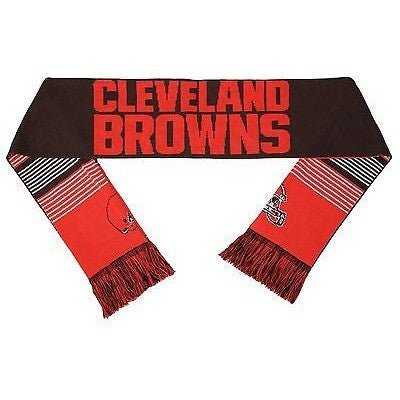 "NFL 2015 Reversible Split Logo Scarf Cleveland Browns 64"" by 7"" FOCO"