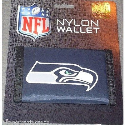 NFL Seattle Seahawks Tri-fold Nylon Wallet with Printed Logo