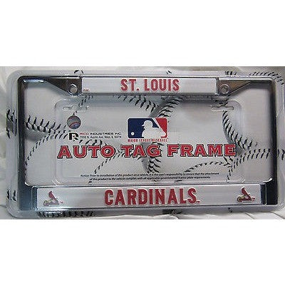 MLB ST. Louis Cardinals Chrome License Plate Frame Thin Letters