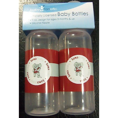NCAA Alabama Crimson Tide 9 fl oz Baby Bottle 2 Pack by baby fanatic