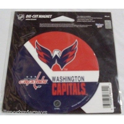 NHL Washington Capitals Round Stick Style 4 inch Auto Magnet by WinCraft
