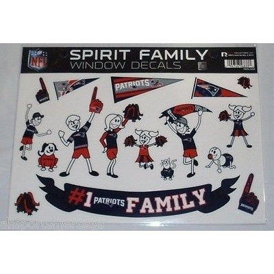 NFL New England Patriots Spirit Family Decals Set of 17 by Rico Industries