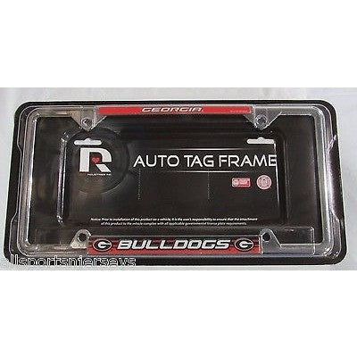 NCAA Georgia Bulldogs Chrome License Plate Frame Red Flat Image