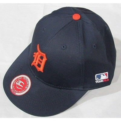 "MLB Detroit Tigers Youth Cap Flat Brim Raised Replica Cotton Twill Hat Orange ""D"""