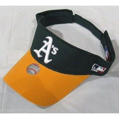 MLB Oakland Athletics A's A's Visor Cotton Twill Replica Adjustable Strap Adult