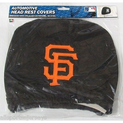 MLB San Francisco Giants  Headrest Cover Embroidered Logo Set of 2 by Team ProMark
