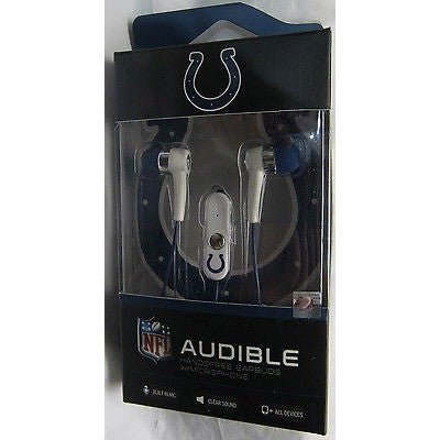 NFL Indianapolis Colts Team Logo Earphones with Microphone by MIZCO