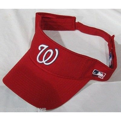 MLB Washington Nationals Visor Cotton Twill Replica Adjustable Strap Adult
